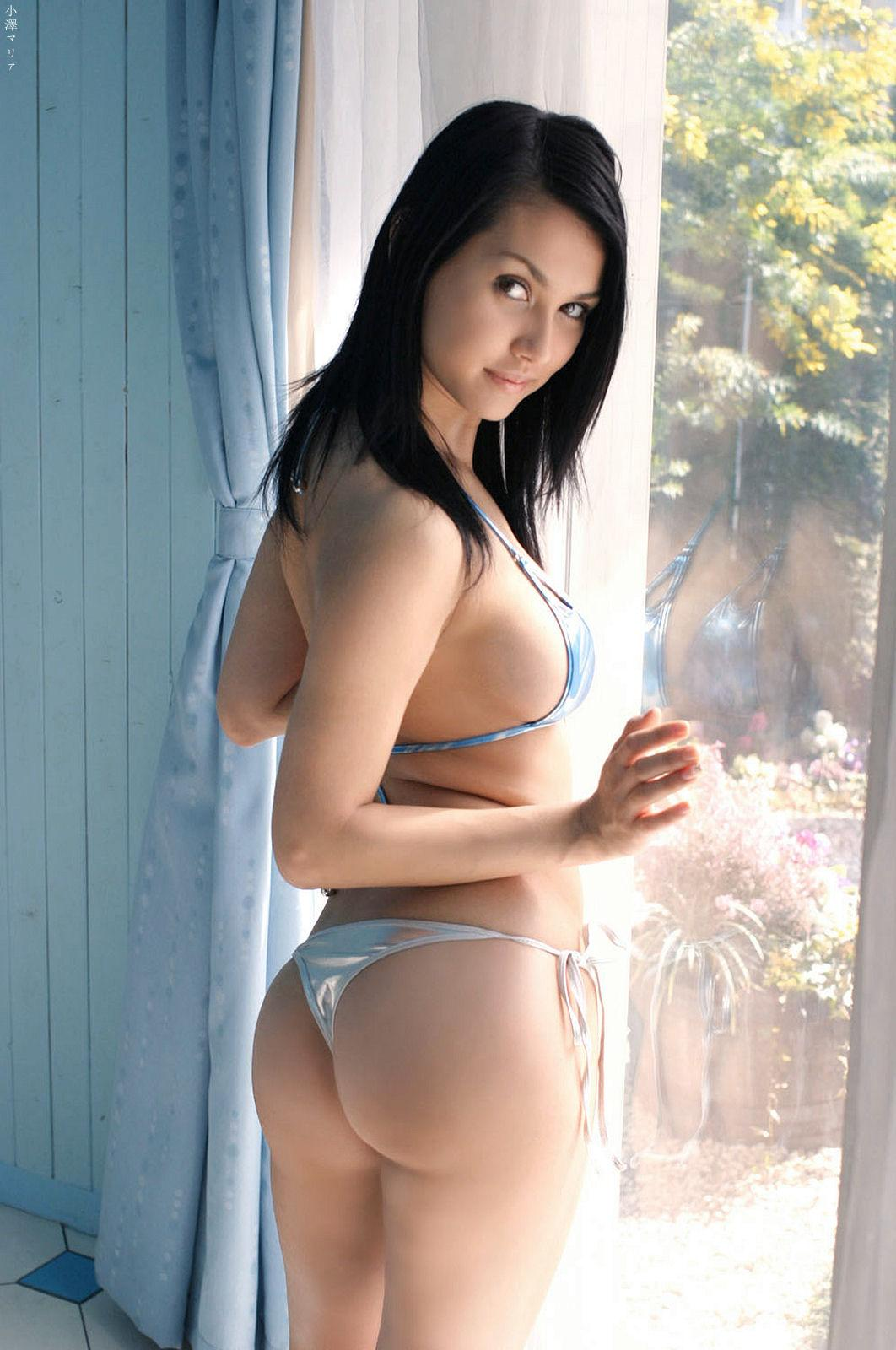 maria is so hot in this tiny little blue bikini maria